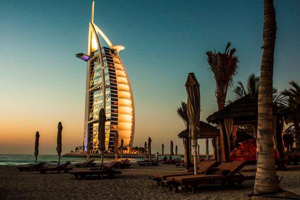 Dubai nos emirados arabe Burj al Arab