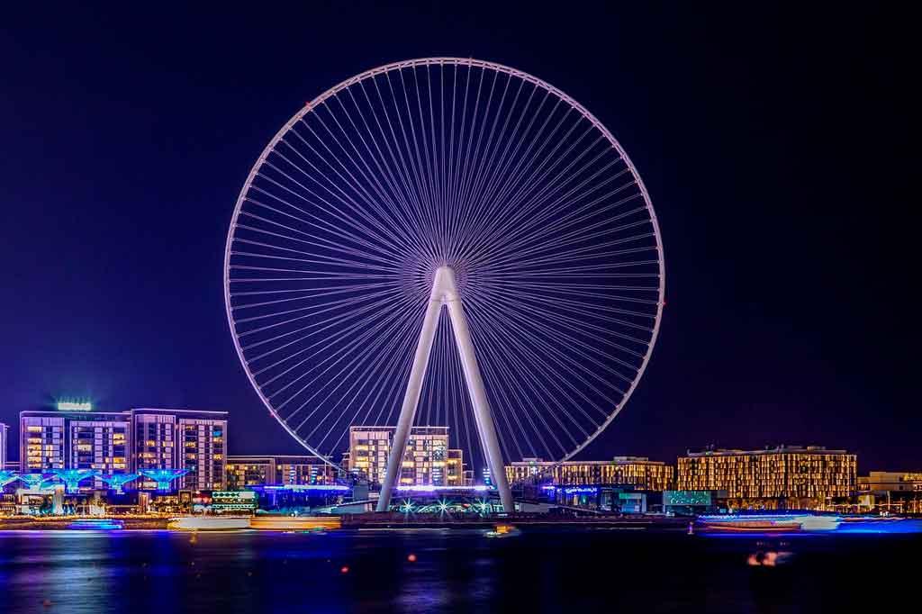 Dubai nos emirados arabe vida noturna