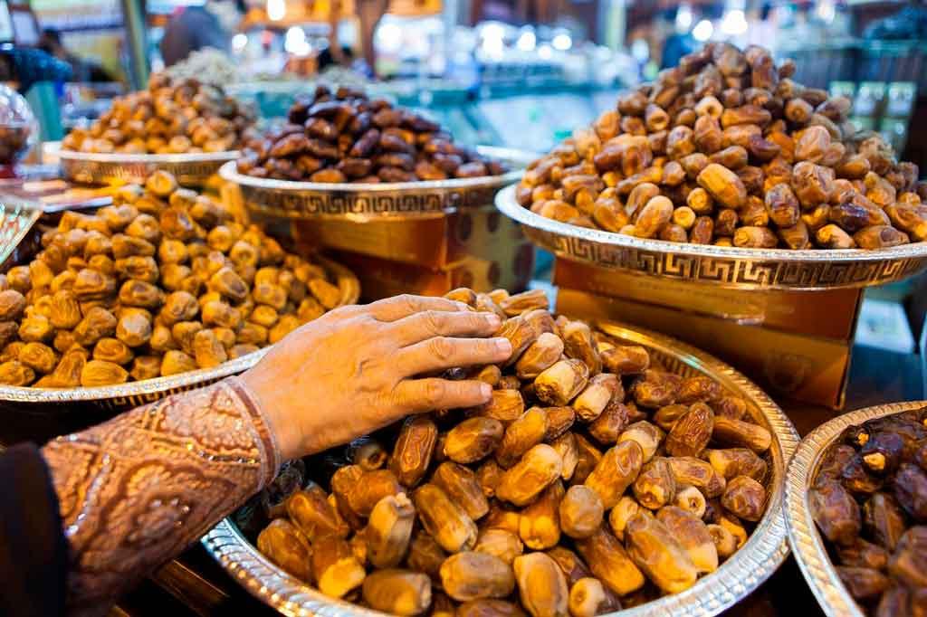 Dubai nos emirados arabe culinaria local