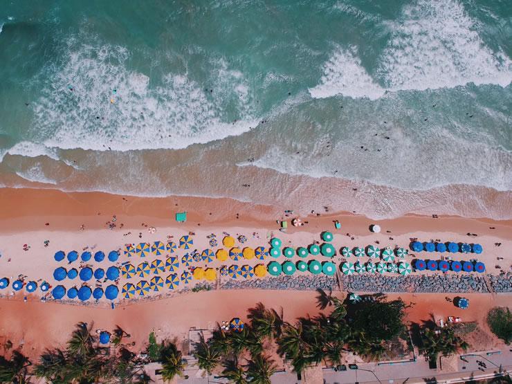 praias para viajar no Brasil