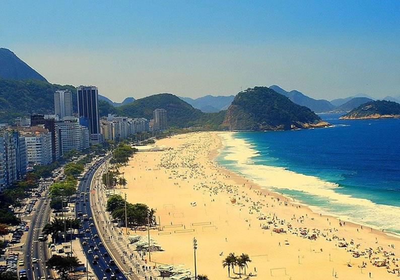 praia de Copacabana no rio