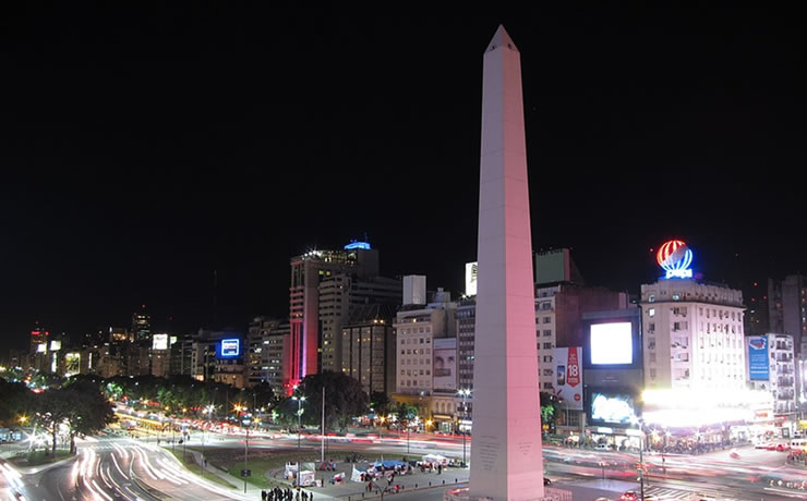 Avenida 9 de Julio e Obelisco