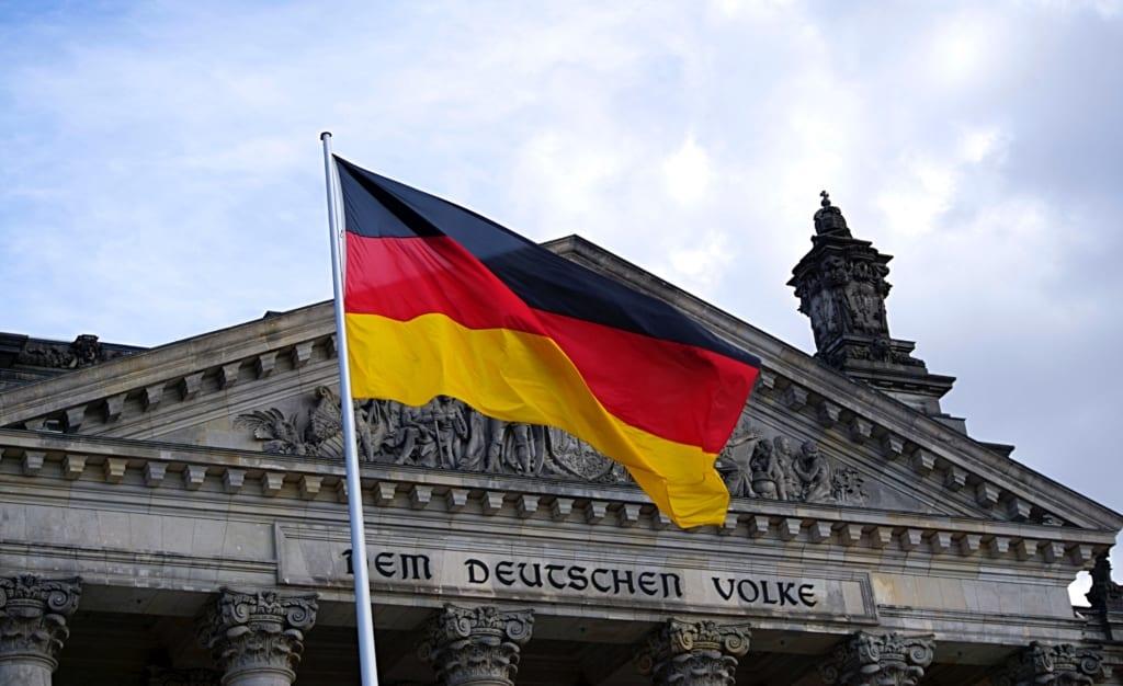 Foto da bandeira alemã