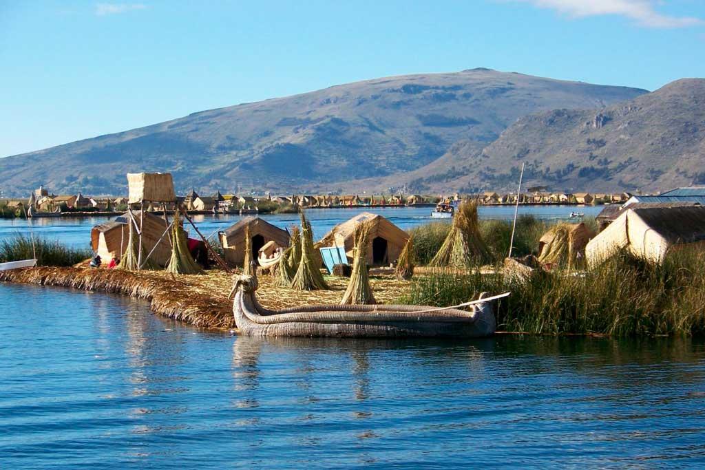 Foto no Lago Titicaca