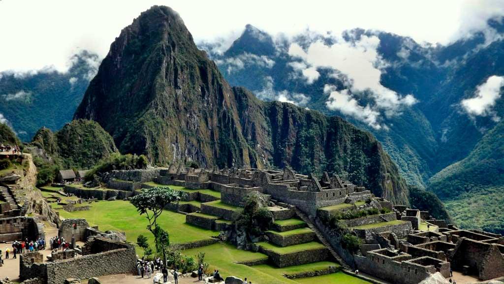 Foto marcante da paisagem em Machu Picchu