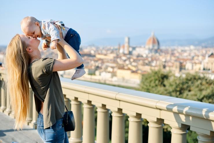 viajar italia com bebe
