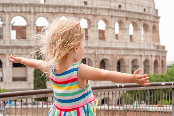 Itália com crianças