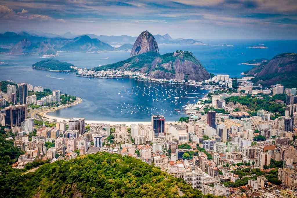 Vista do Pão de Açúcar no Rio