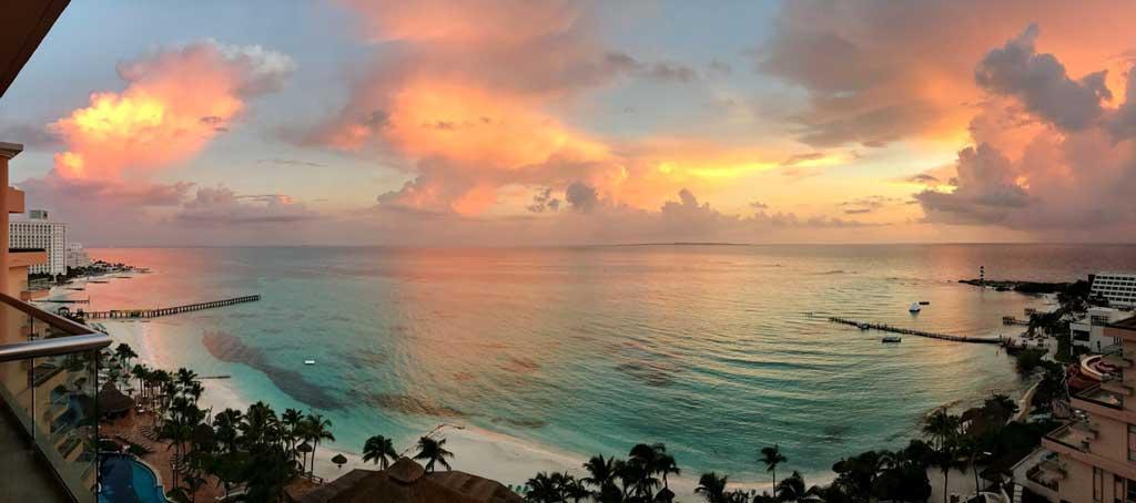 Foto panorâmica de Cancun