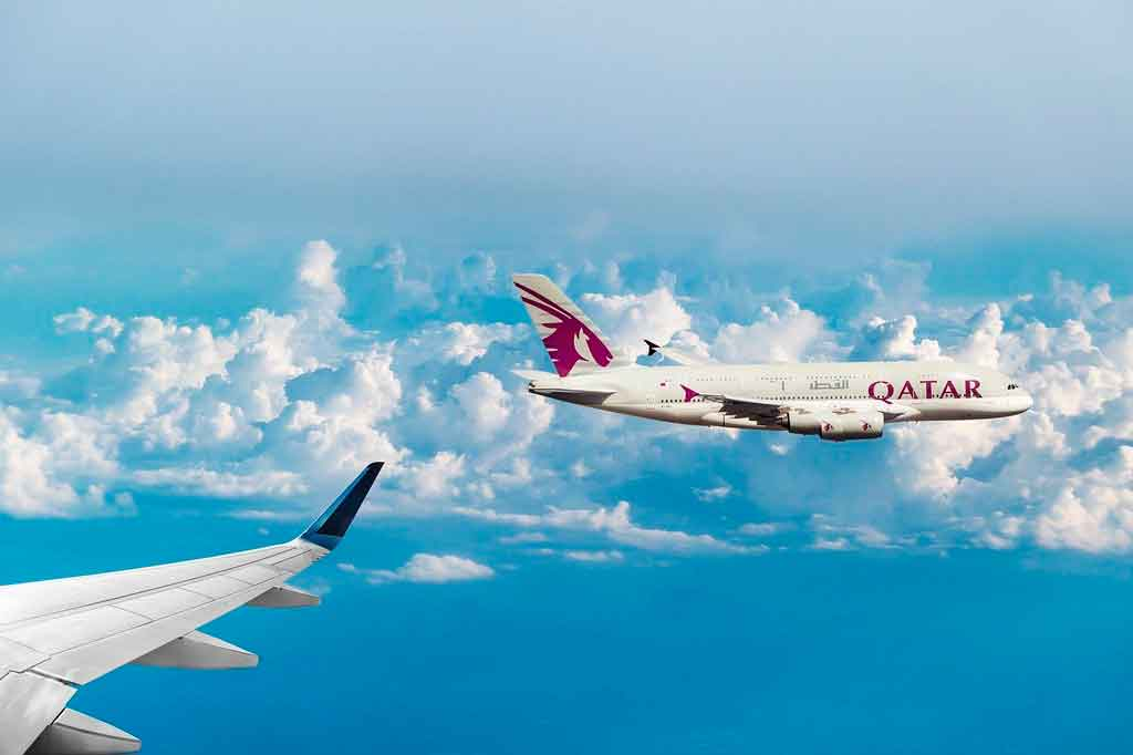 Avião da Qatar