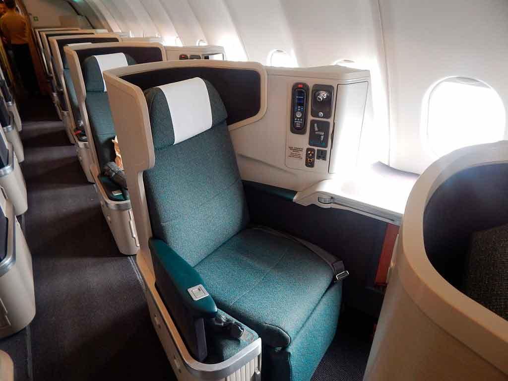 melhores assentos avião: classe executiva