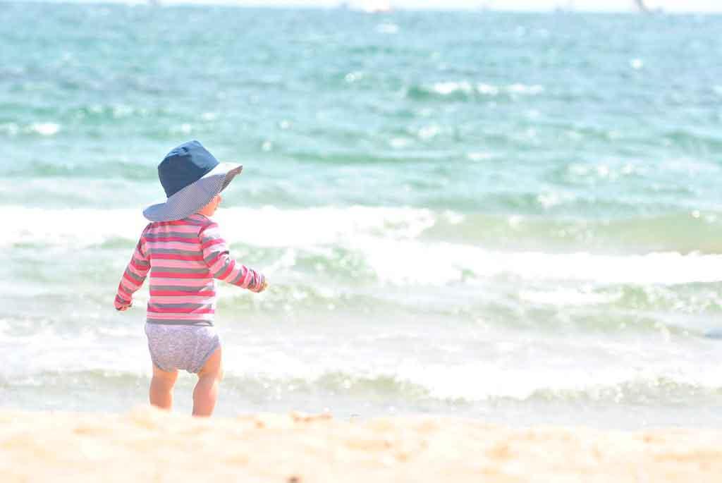 Boas praias para crianças