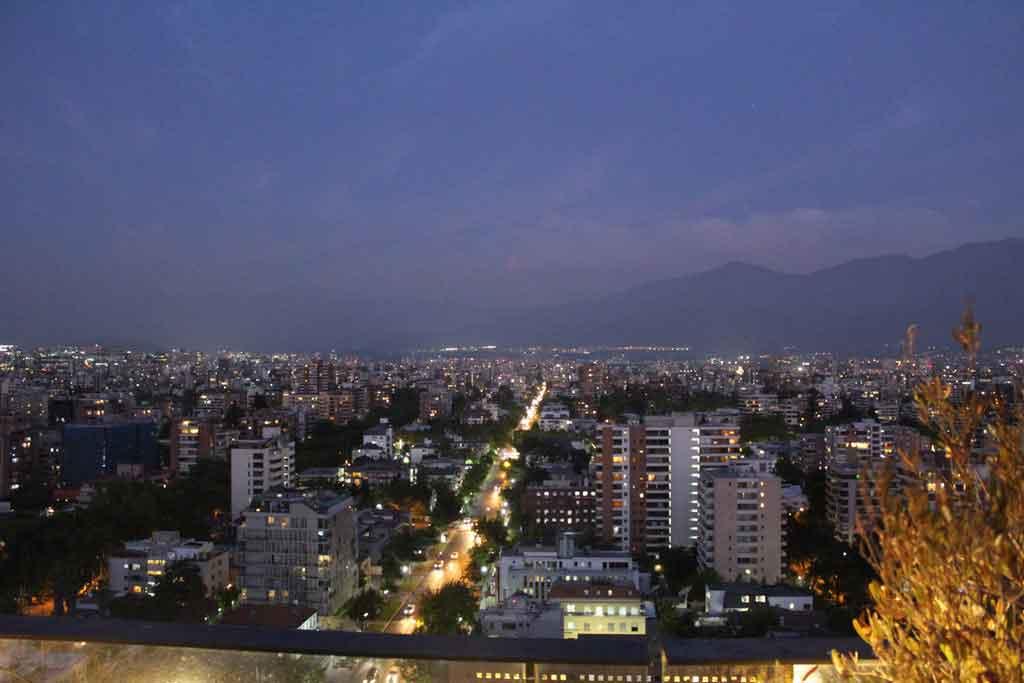 Distância de Santiago a Valparaíso