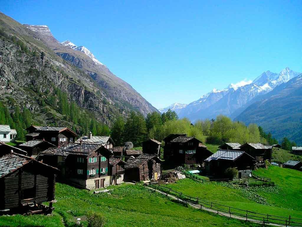 Cidade dos Alpes Suiços