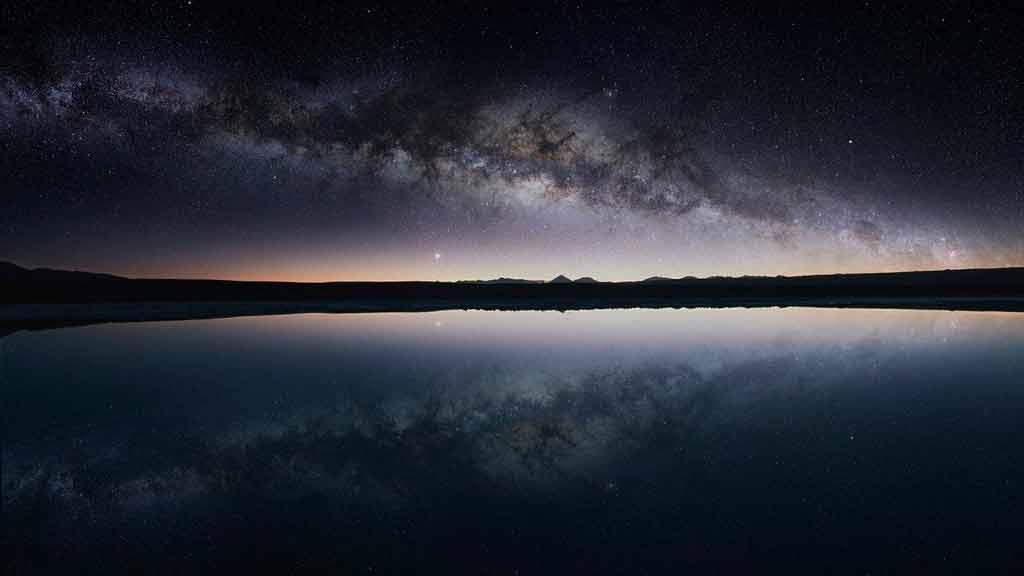Deserto do Atacama à noite