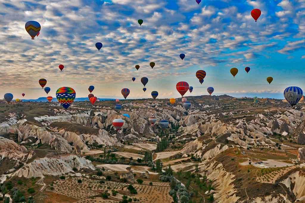 Pontos turísticos da Turquia passeio de balões