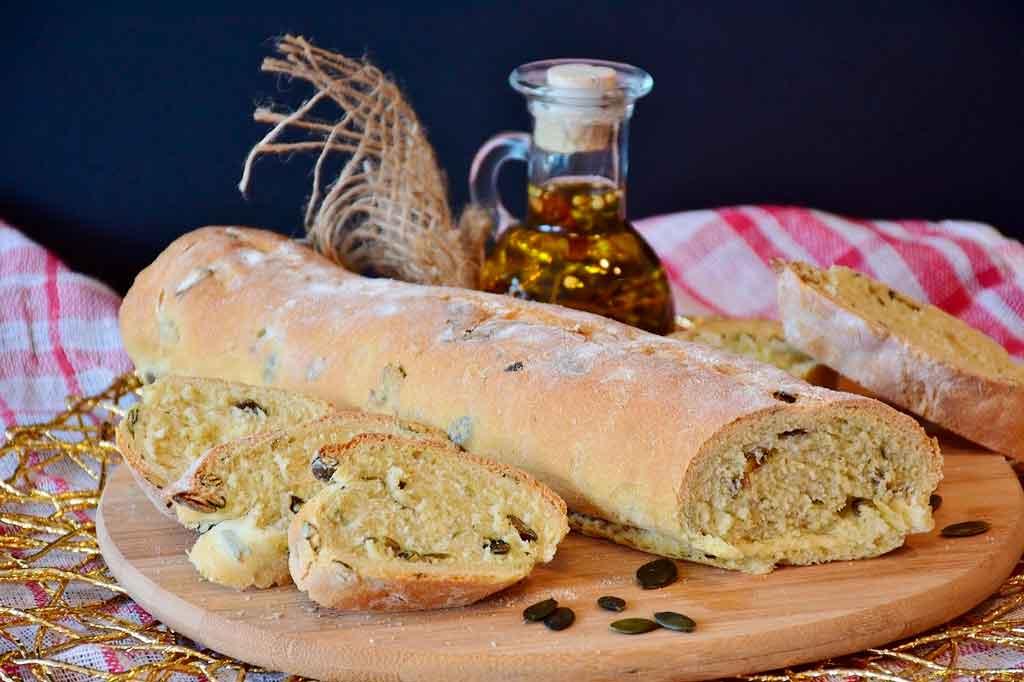Comidas tipicas da Itália ciabatta