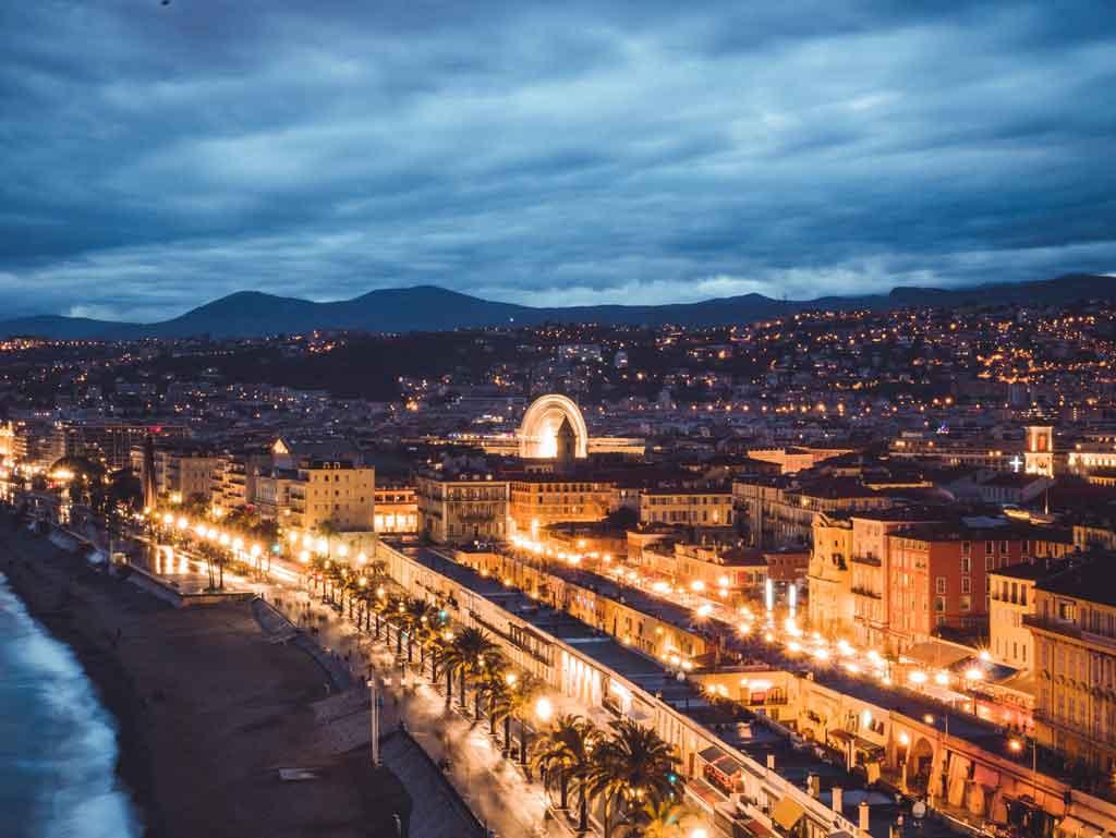 O que fazer em Nice Franca a noite