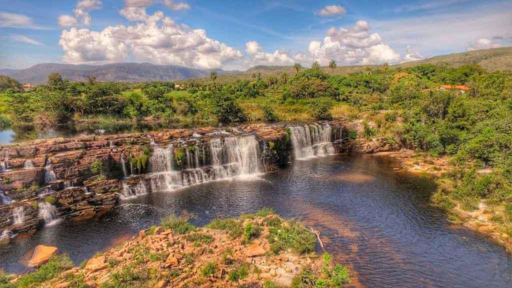 Parque nacional da Serra do Cipó cachoeira grande
