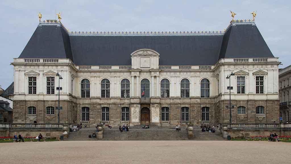 Rennes França place du parlament de bretgne