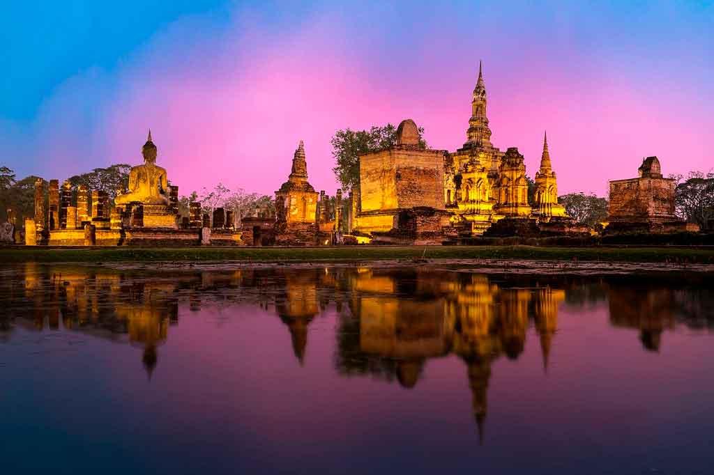 Bangkok Tailândia ruínas de ayutthaya