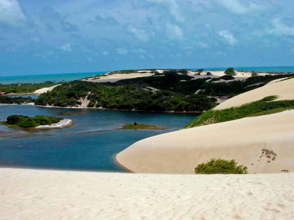 Praia de Genipabu onde fica
