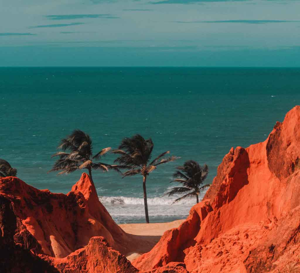 Praia de Morro Branco onde fica