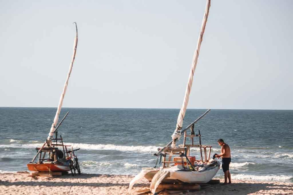 Praia de Morro Branco passeio de jangada