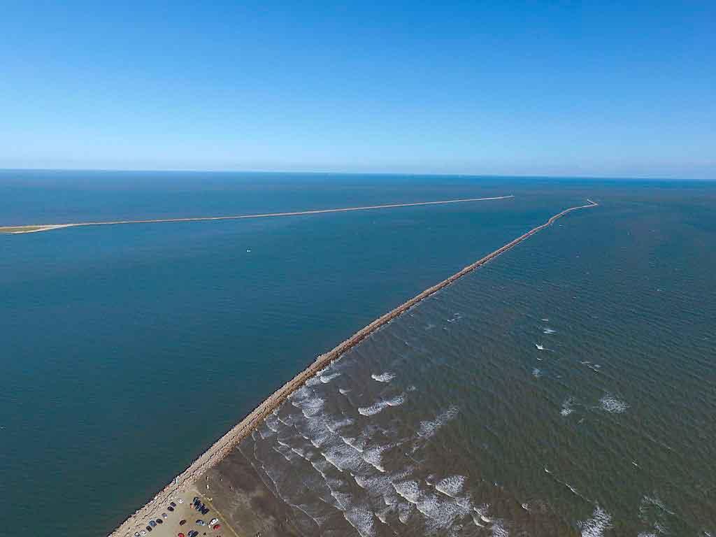 Laguna Santa Catarina molhes da barra