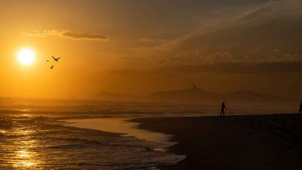 Praias de Itanhaem praia da gaivota