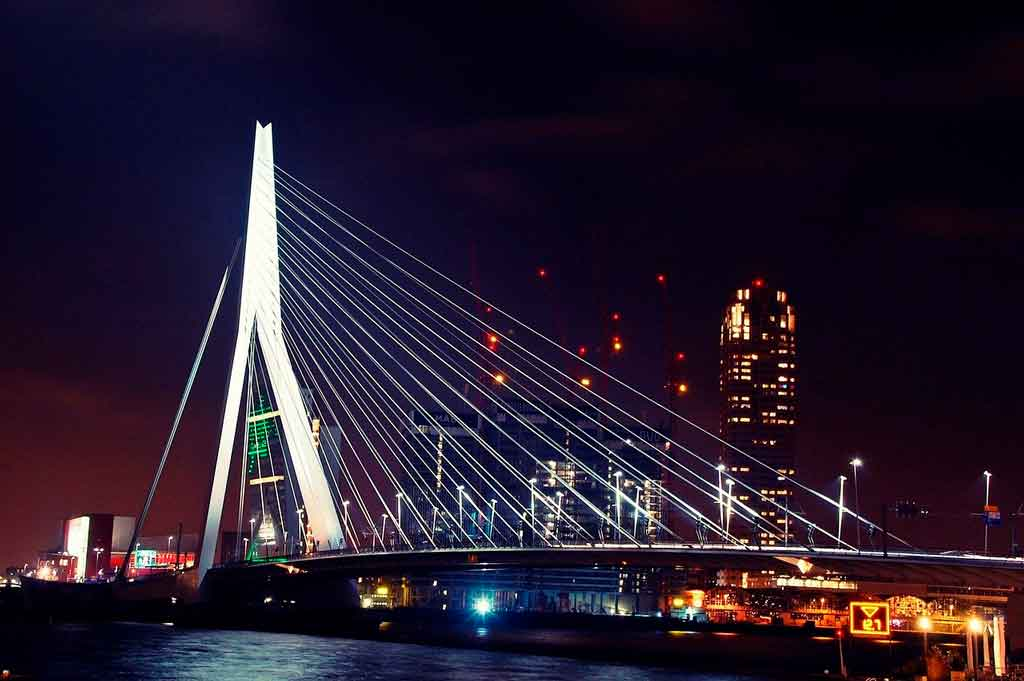 Rotterdam Holanda erasmusbrug
