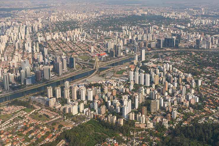 Em qual zona fica Santo André, São Paulo